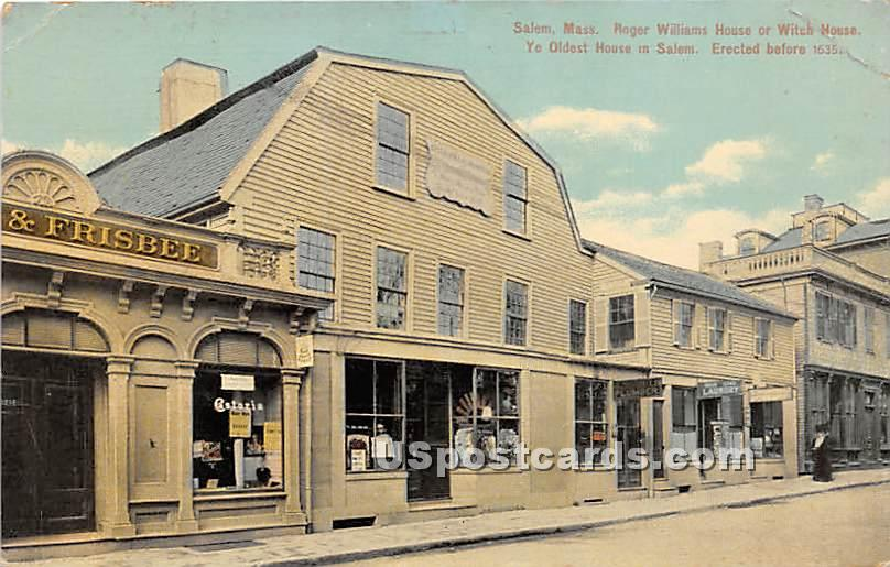 Roger Williams House or Witch House - Salem, Massachusetts MA Postcard