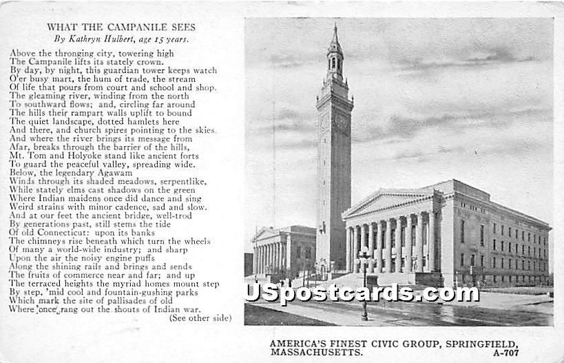 America's Finest Civic Group - Springfield, Massachusetts MA Postcard