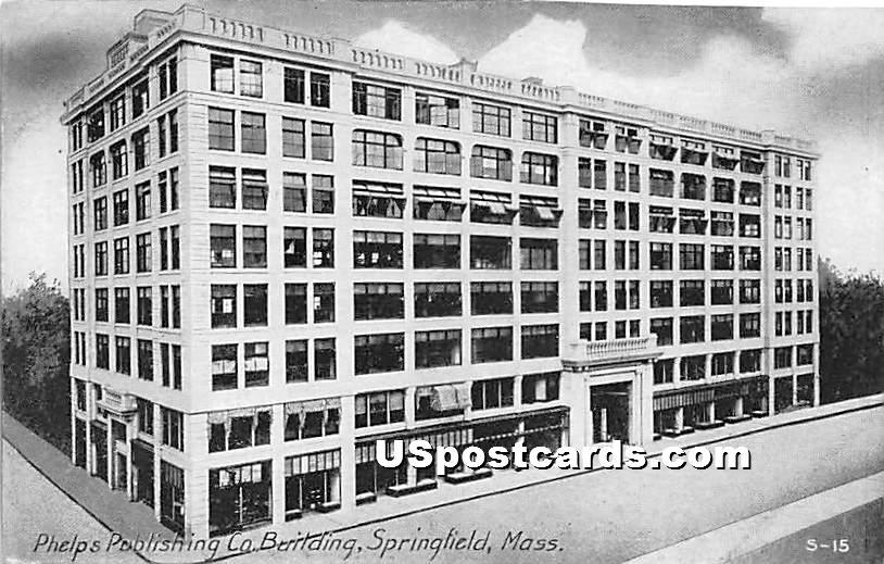 Phelps Publishing Co Building - Springfield, Massachusetts MA Postcard