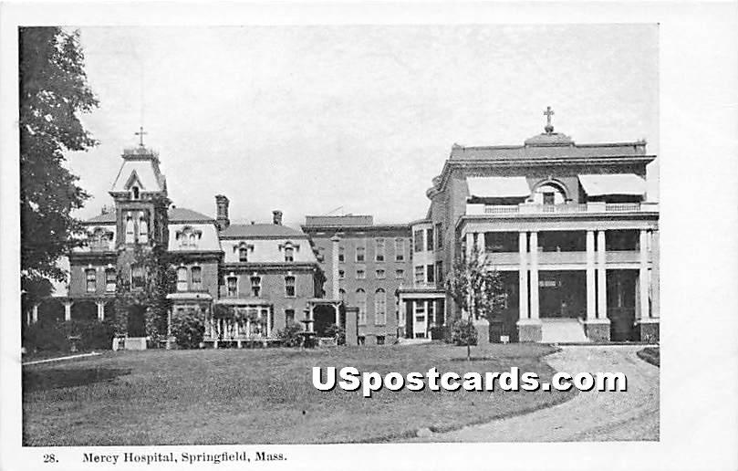 Mercy Hospital - Springfield, Massachusetts MA Postcard
