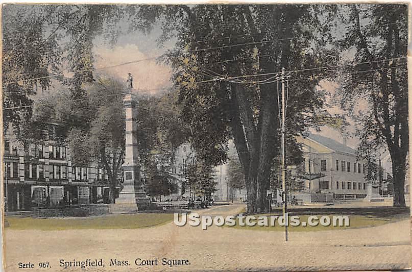 Court Square - Springfield, Massachusetts MA Postcard