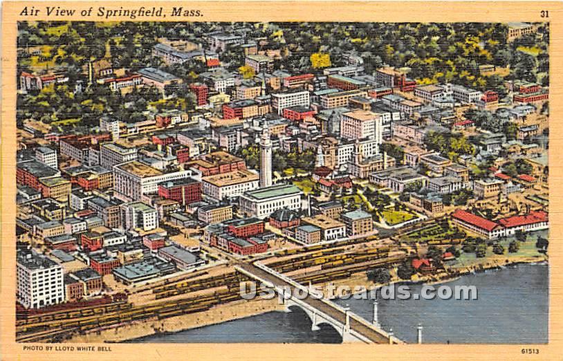 Air View - Springfield, Massachusetts MA Postcard
