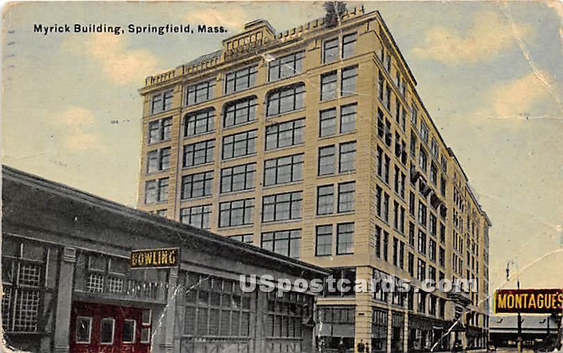 Myrick Building - Springfield, Massachusetts MA Postcard