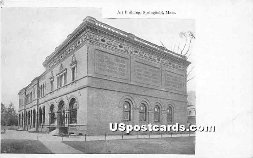 Art Building - Springfield, Massachusetts MA Postcard