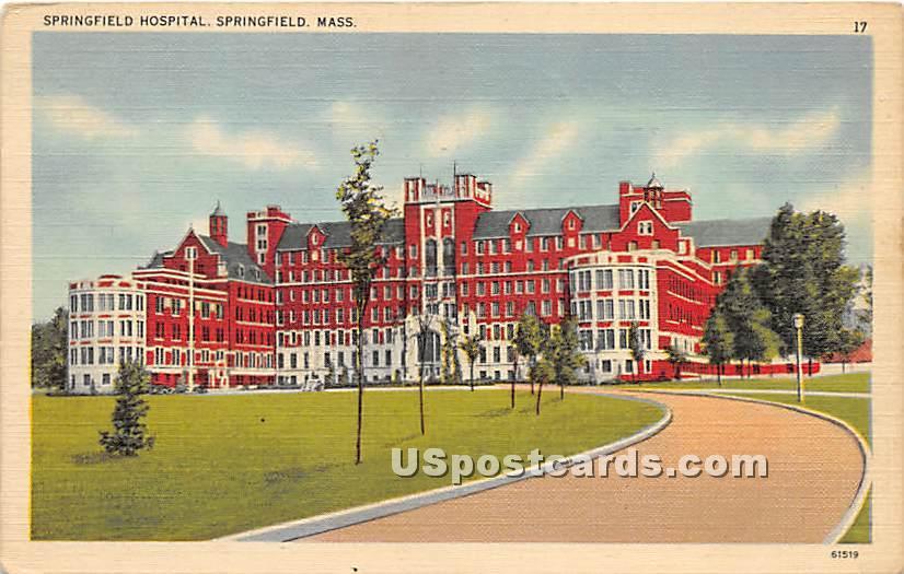 Springfield Hospital - Massachusetts MA Postcard