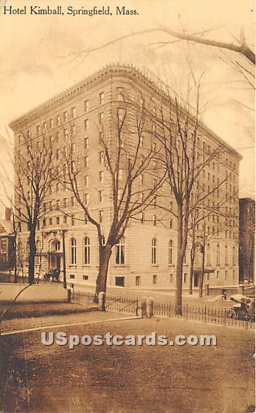 Hotel Kimball - Springfield, Massachusetts MA Postcard