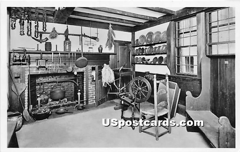 New England Kitchen 1750 - Salem, Massachusetts MA Postcard