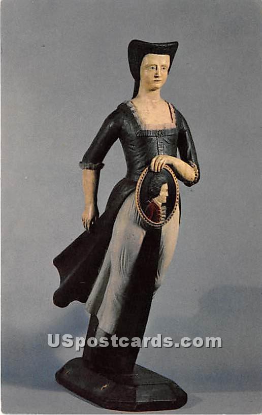 Figurehead attributed to Samuel McINtire of Salem - Massachusetts MA Postcard
