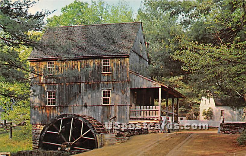 Wright's Gristmill - Sturbridge, Massachusetts MA Postcard