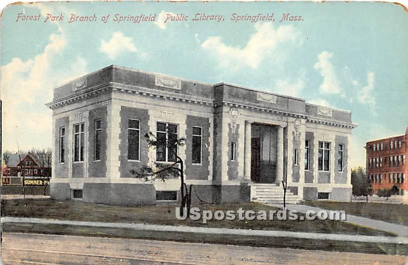 Forest Park Branch of Springfield Public Library - Massachusetts MA Postcard