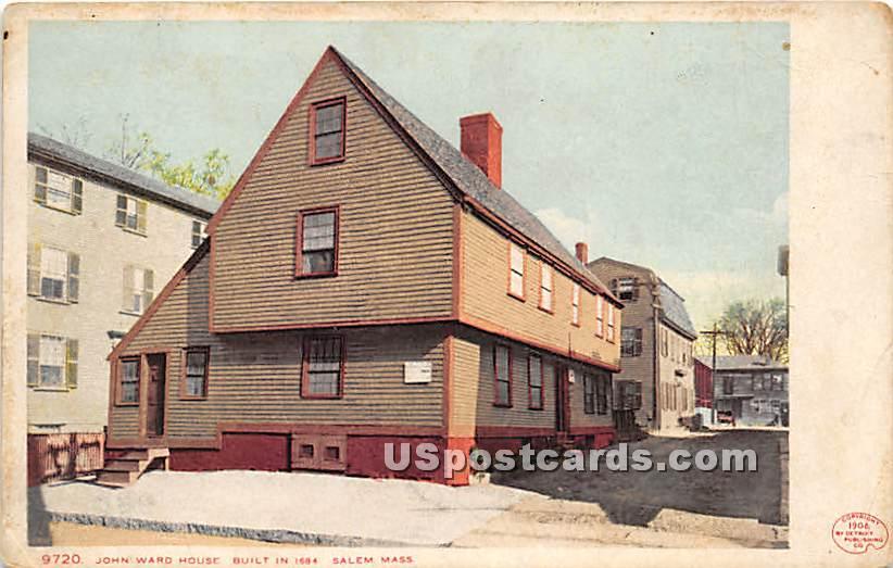 John Ward House built in 1684 - Salem, Massachusetts MA Postcard