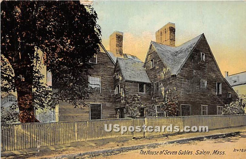 The House of Seven Gables - Salem, Massachusetts MA Postcard