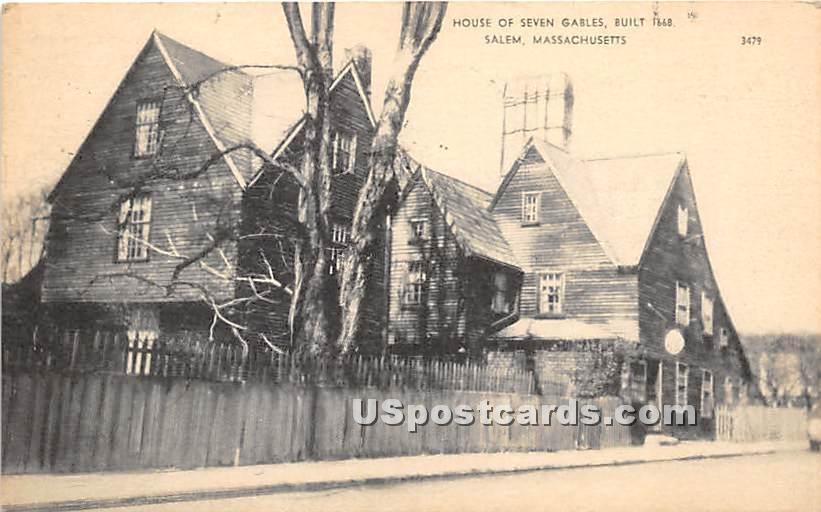 House of Seven Gables Built 1668 - Salem, Massachusetts MA Postcard