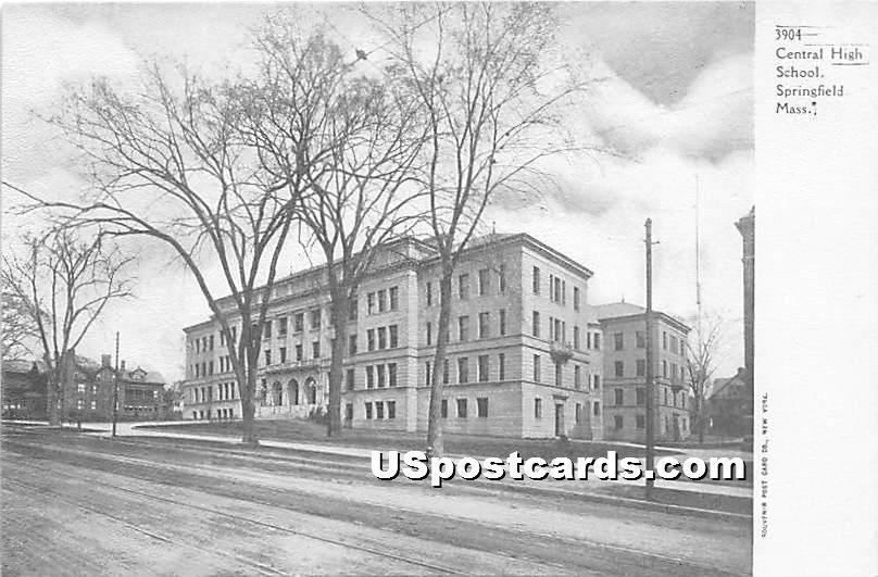 Central High School - Springfield, Massachusetts MA Postcard