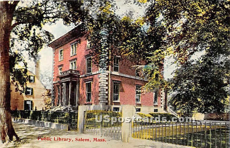 Public Library - Salem, Massachusetts MA Postcard