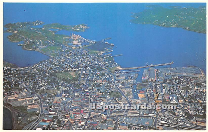 Air View of City - Salem, Massachusetts MA Postcard