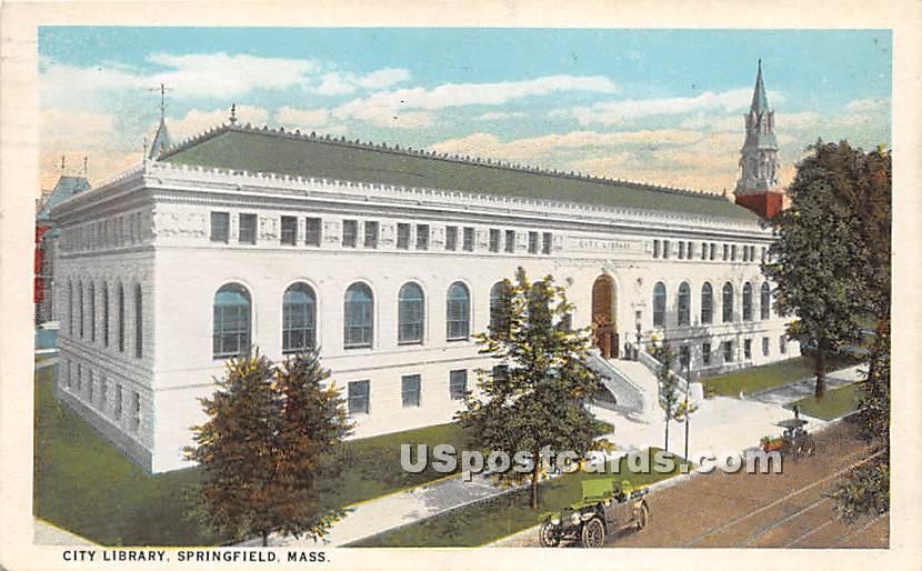 City Library - Springfield, Massachusetts MA Postcard