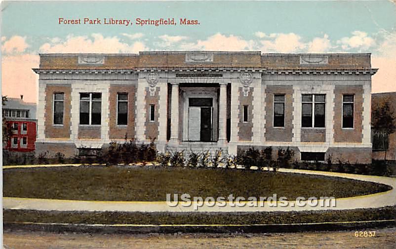 Forest Park Library - Springfield, Massachusetts MA Postcard