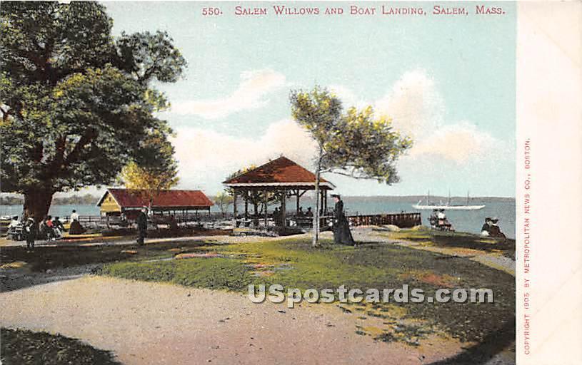 Salem Willows & Boat Landing - Massachusetts MA Postcard