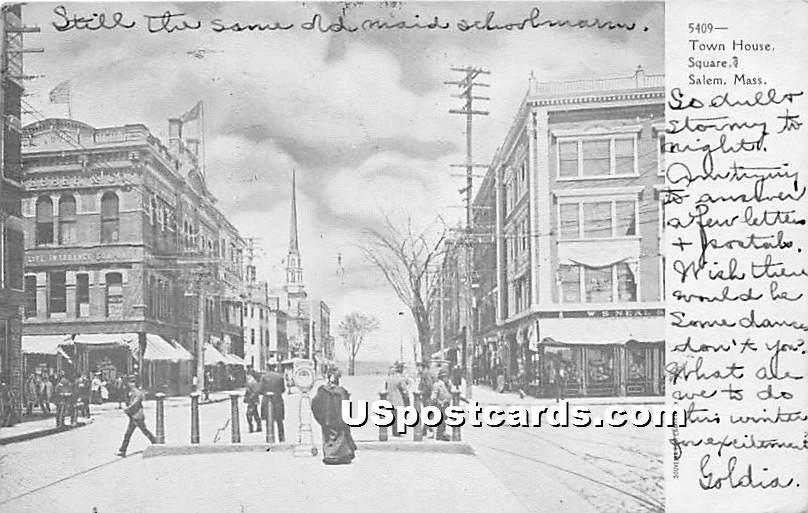 Town House Square - Salem, Massachusetts MA Postcard