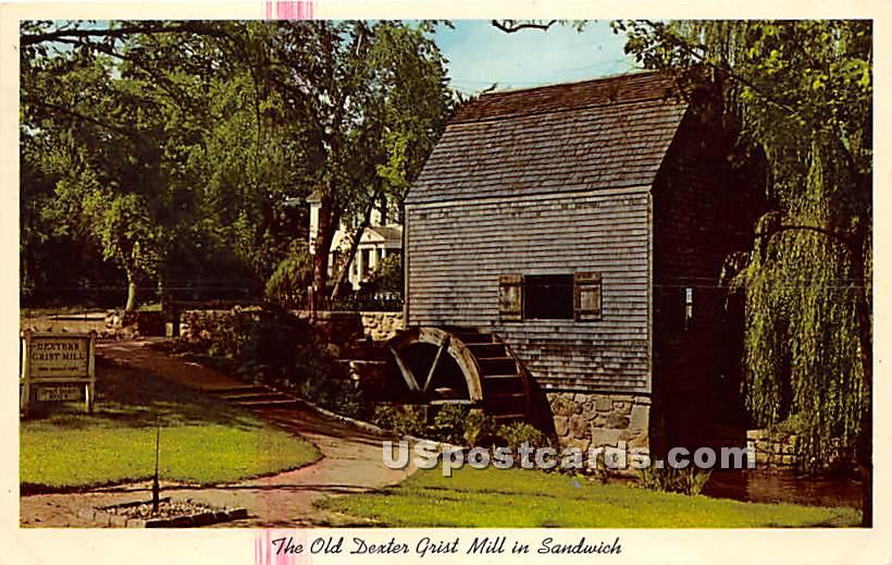 The Old Dexter Grist Mill - Sandwich, Massachusetts MA Postcard