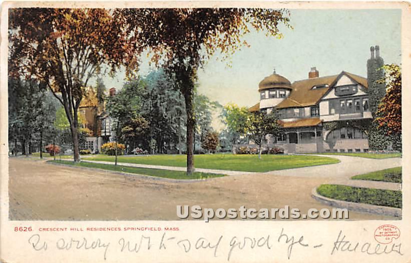 Crescent Hill Residences - Springfield, Massachusetts MA Postcard