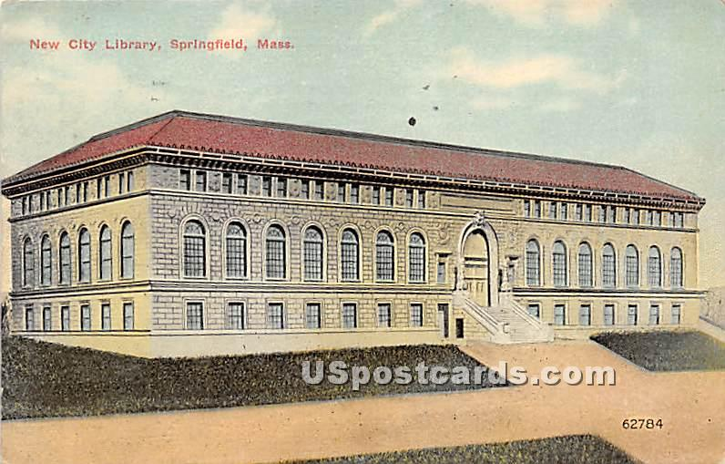 New City Library - Springfield, Massachusetts MA Postcard