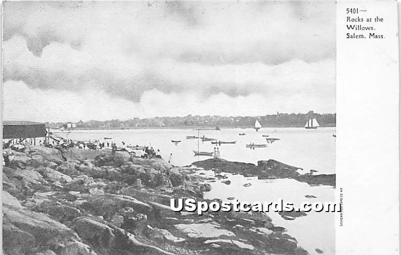 Rocks at the Willows - Salem, Massachusetts MA Postcard