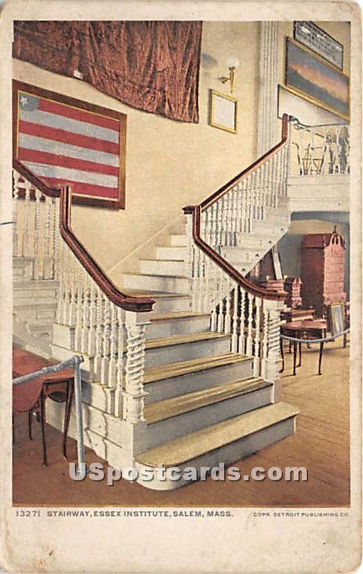 Stairway at Essex Institute - Salem, Massachusetts MA Postcard