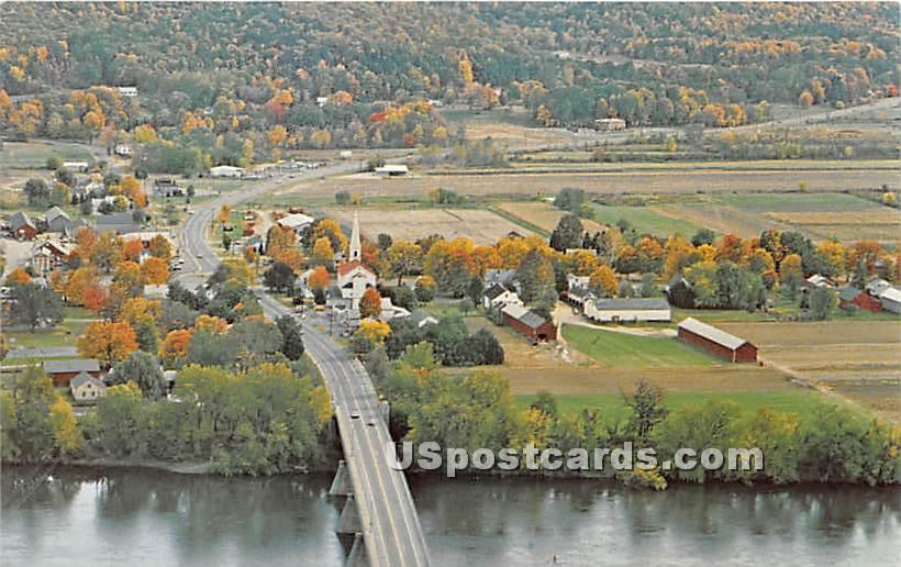 Fall Foliage along the Connecticut River - Sunderland, Massachusetts MA Postcard