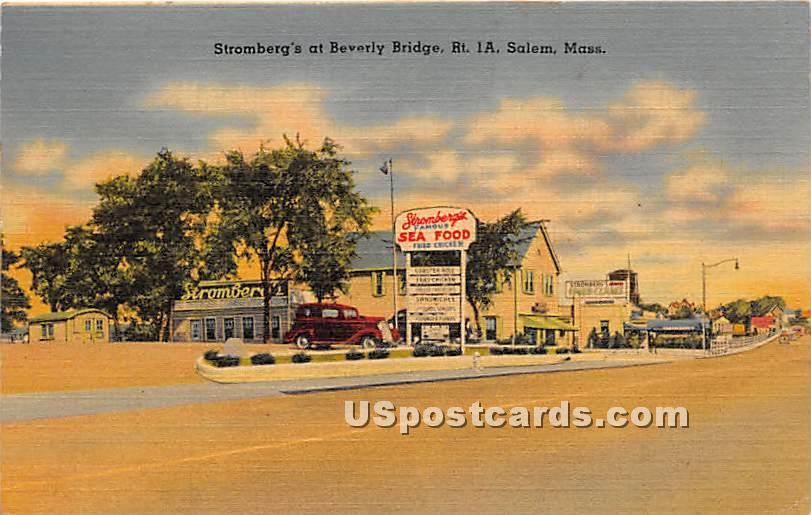 Stromberg's at Beverly Bridge - Salem, Massachusetts MA Postcard