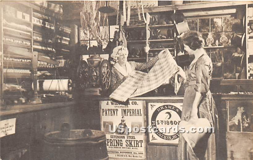 Interior Miner Grant's General Store - Sturbridge, Massachusetts MA Postcard