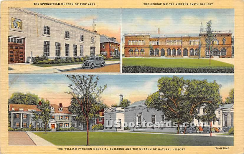 The William Pynchon Memorial Building & the Museum of Natural History - Springfield, Massachusetts MA Postcard