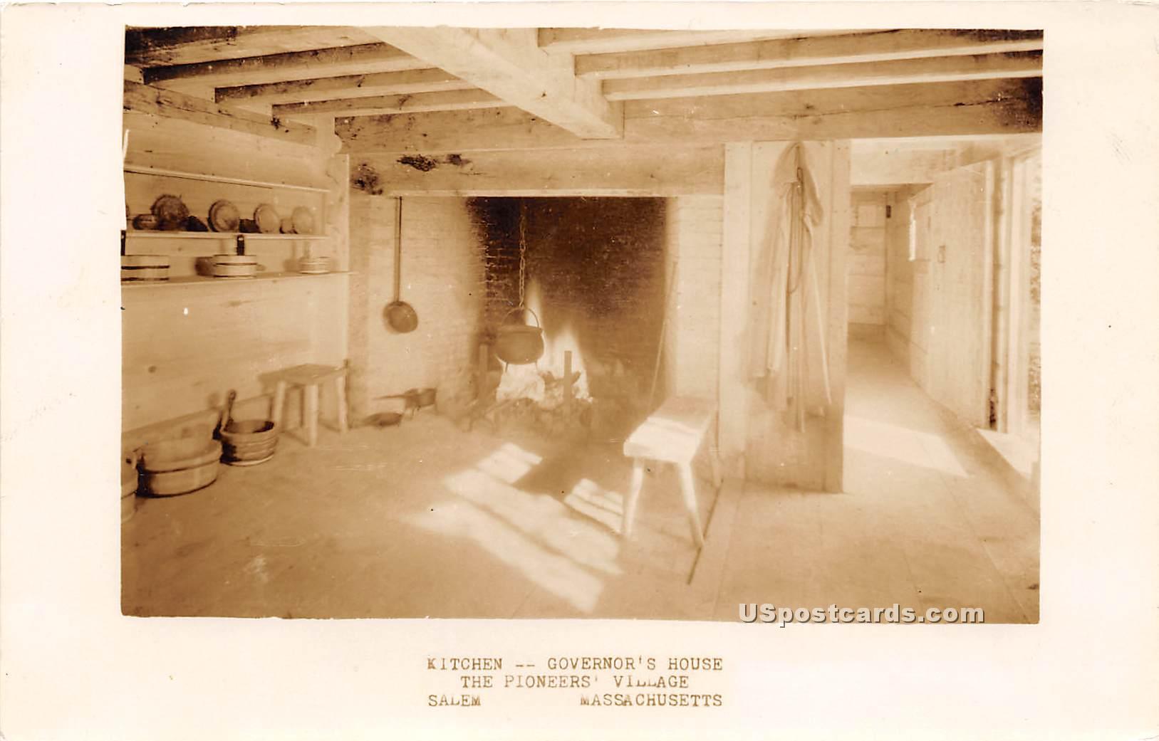 Kitchen, Governor's House - Salem, Massachusetts MA Postcard