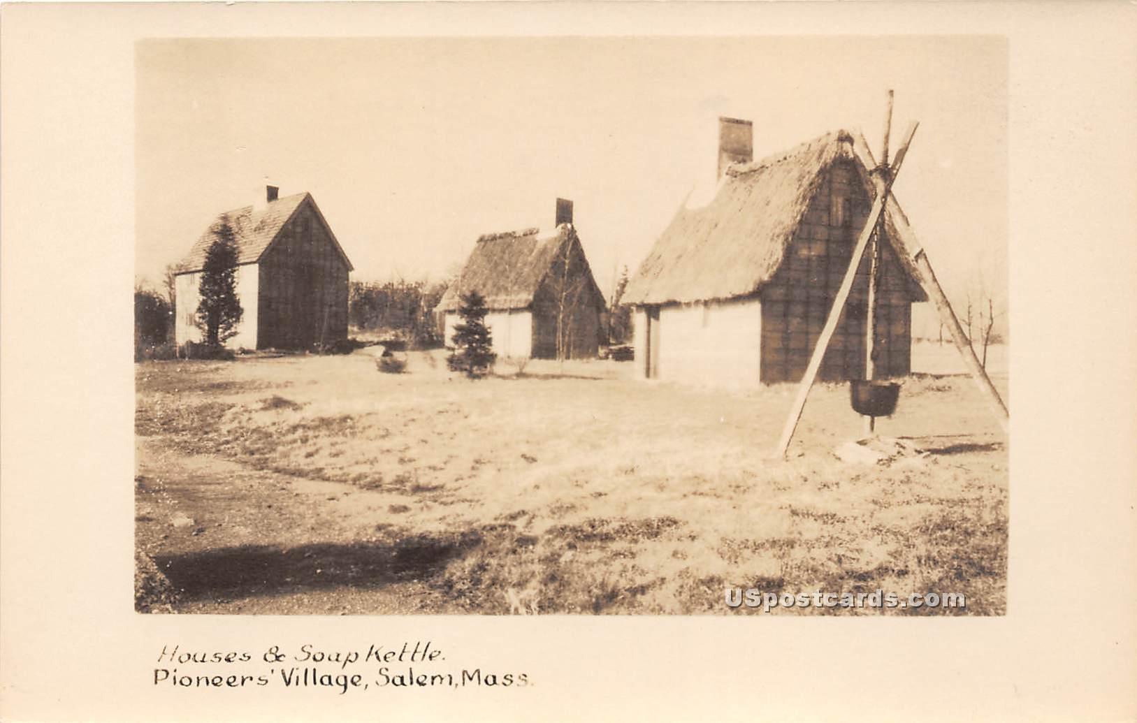 Houses & Soup Kettle - Salem, Massachusetts MA Postcard