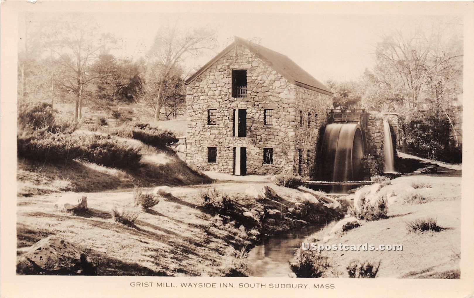 Grist Mill - South Sudbury, Massachusetts MA Postcard