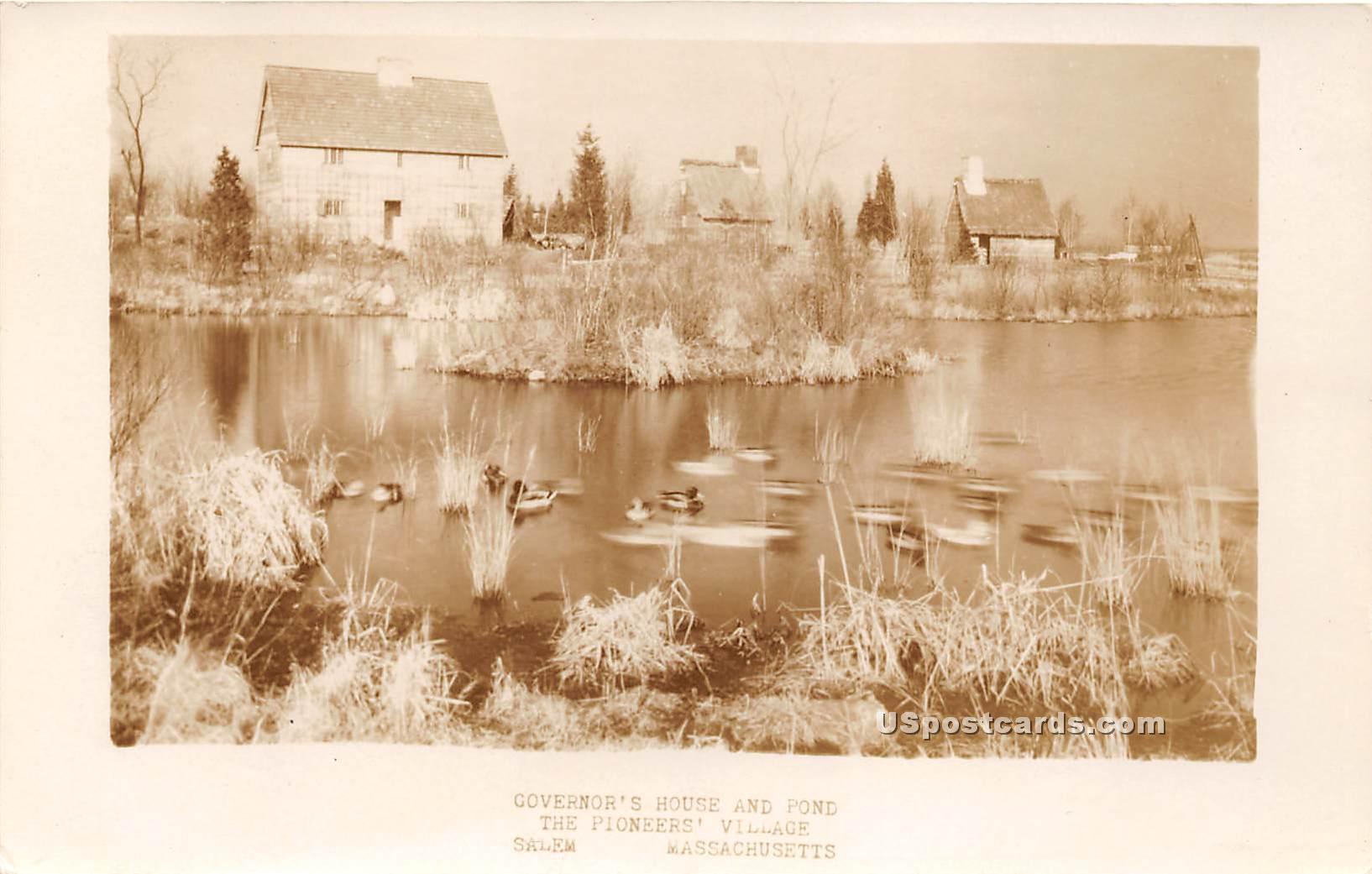 Governor's House & Pond - Salem, Massachusetts MA Postcard