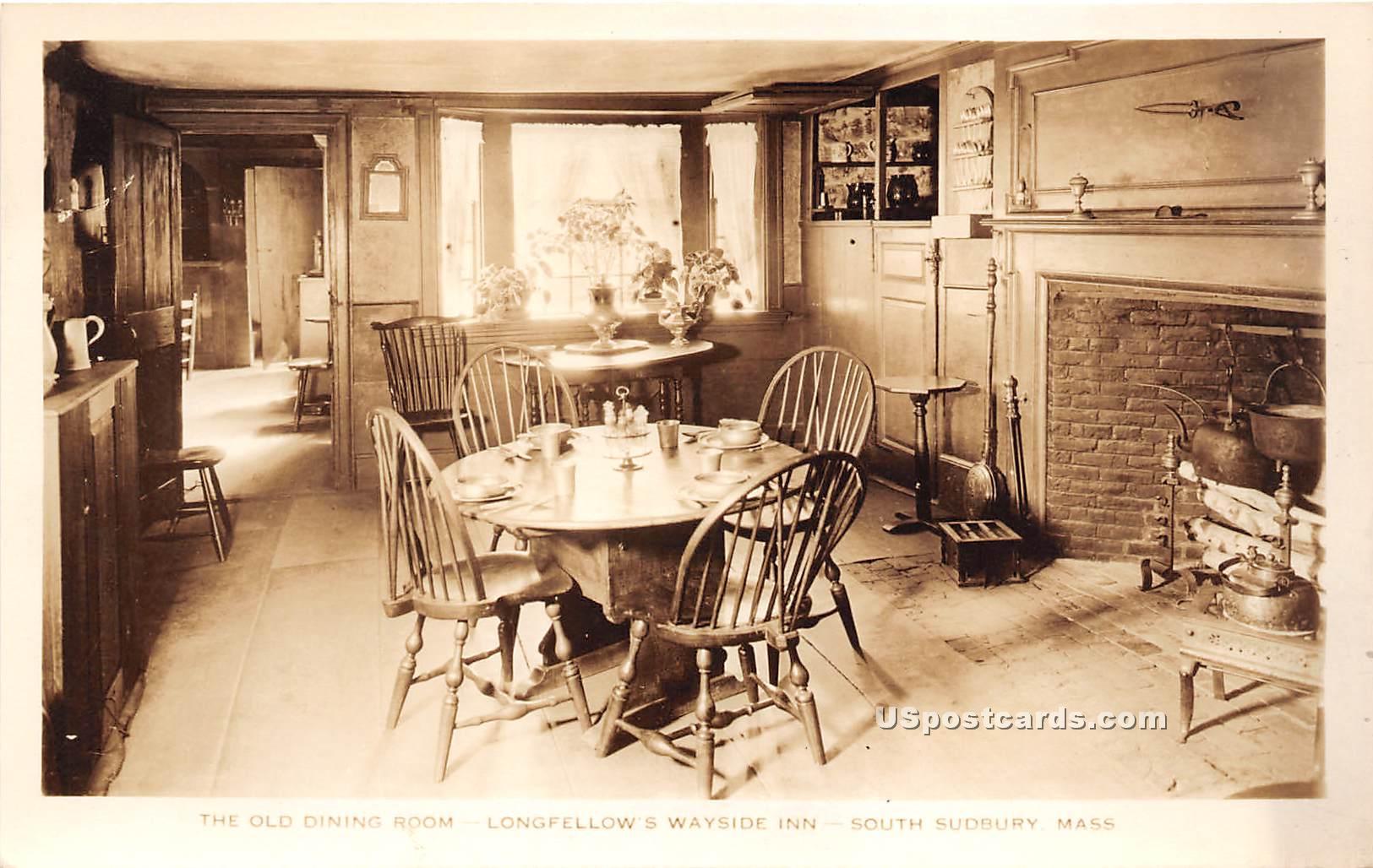 Old Dining Room - South Sudbury, Massachusetts MA Postcard