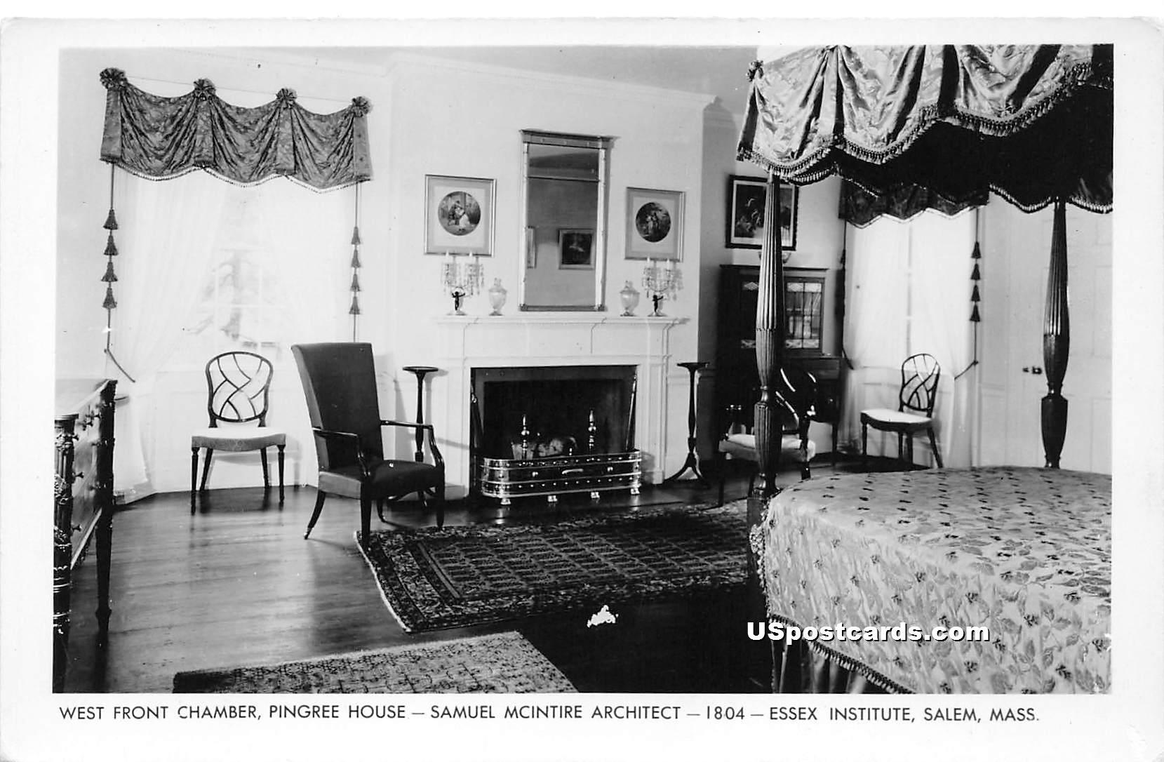 West Front Chamber - Salem, Massachusetts MA Postcard