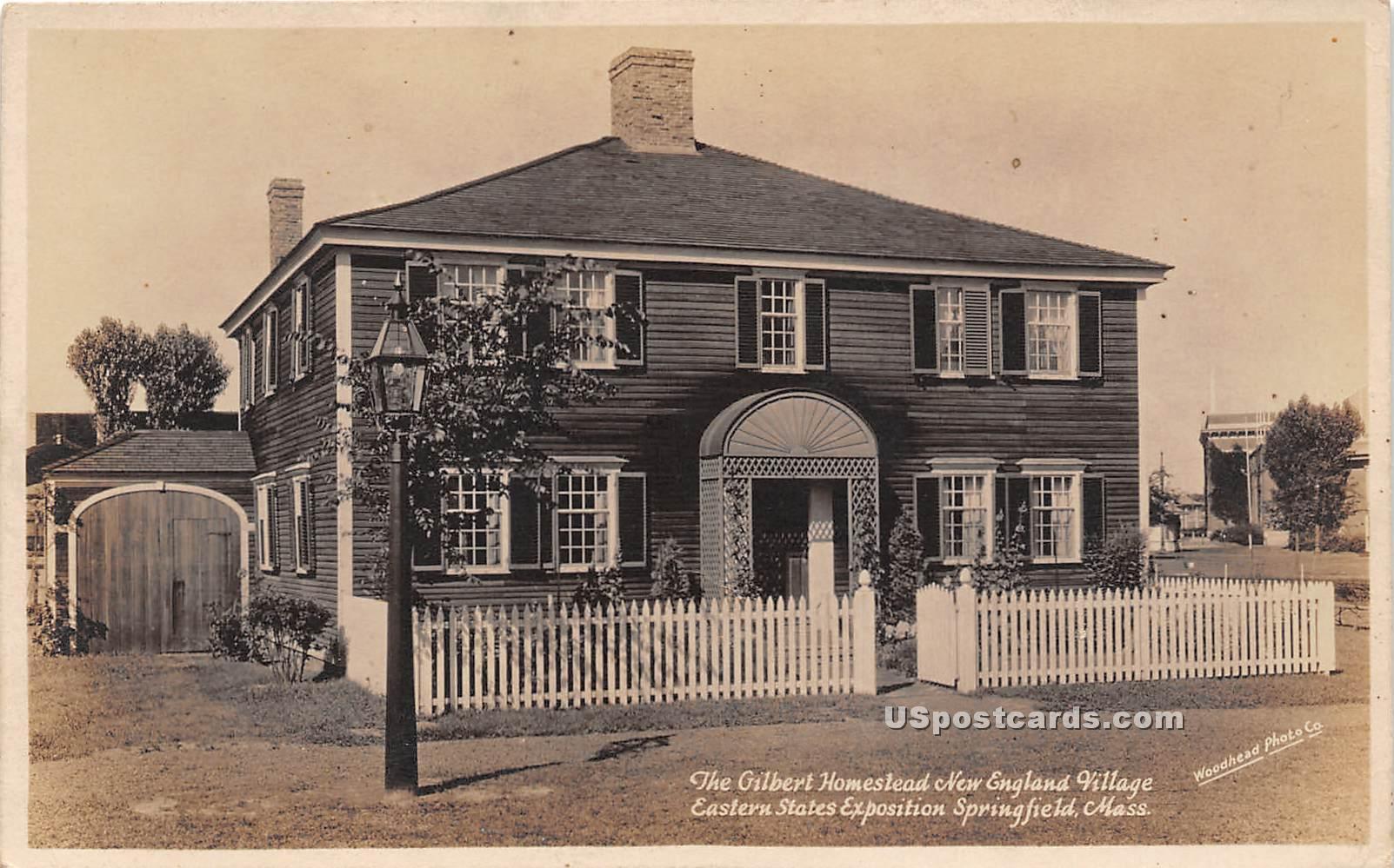 Gilbert Homestead - Springfield, Massachusetts MA Postcard
