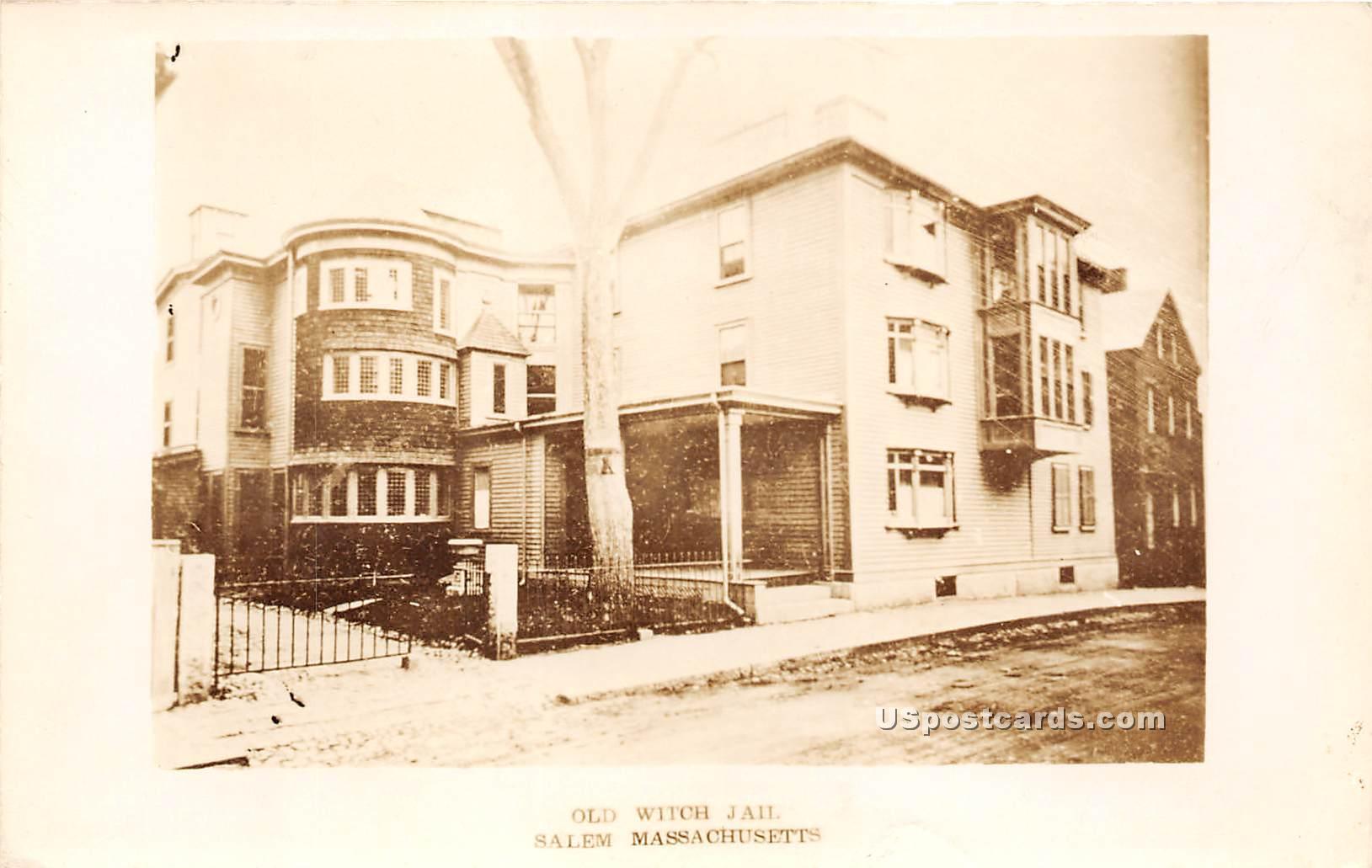 Old Witch Jail - Salem, Massachusetts MA Postcard