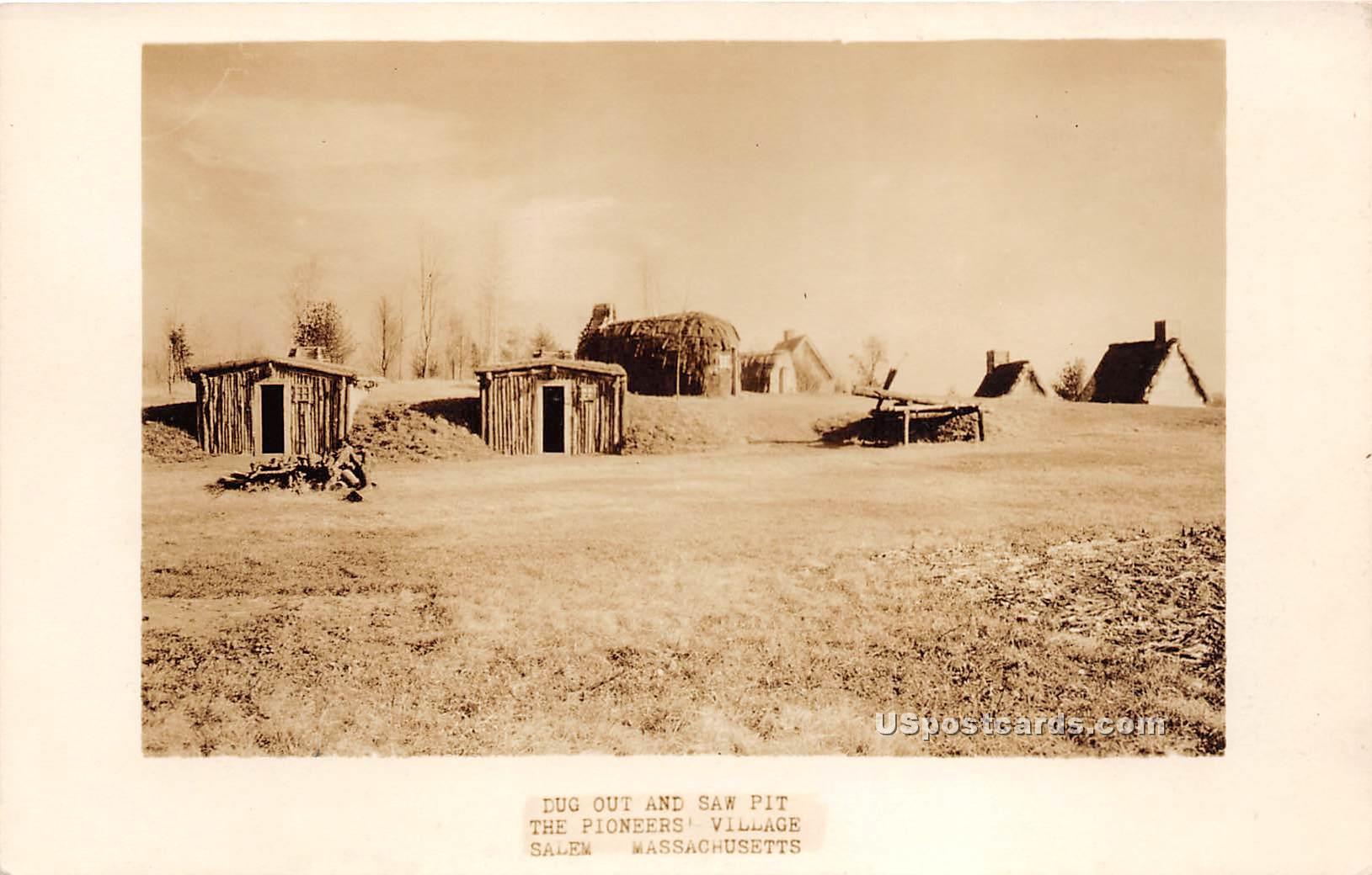 Dug Out & Saw Pit - Salem, Massachusetts MA Postcard
