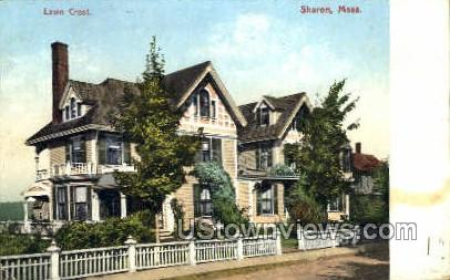 Lawn Crest - Sharon, Massachusetts MA Postcard