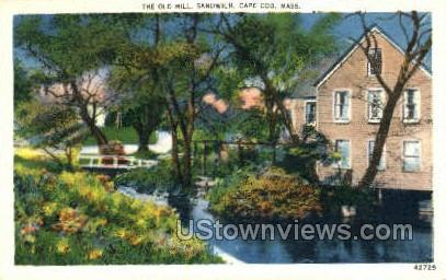 The Old Mill - Sandwich, Massachusetts MA Postcard