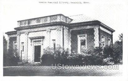Weston Memorial Library - Sandwich, Massachusetts MA Postcard