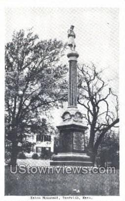 Eaton Monument - Sandwich, Massachusetts MA Postcard