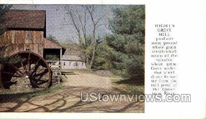 Wight's Grist Mill - Old Sturbridge Village, Massachusetts MA Postcard