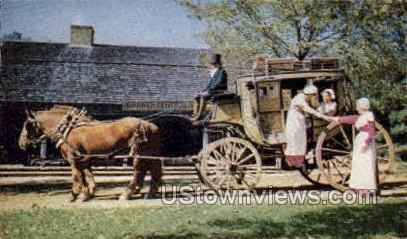 Carriages - Old Sturbridge Village, Massachusetts MA Postcard