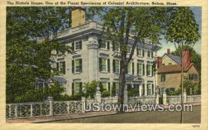 The Nichols House - Salem, Massachusetts MA Postcard