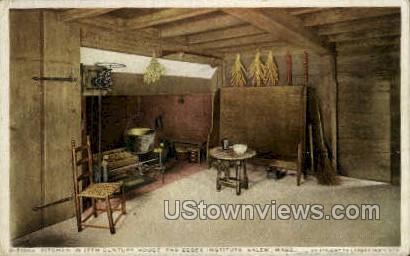 Kitchen, 17th Century House - Salem, Massachusetts MA Postcard